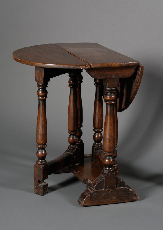 Miniature William and Mary Style Oak Drop-leaf Table