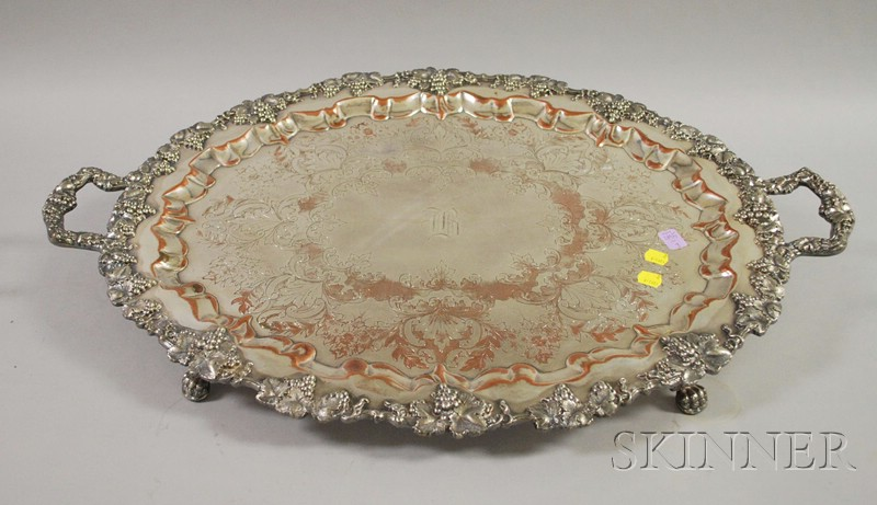 Sheffield Silver Plated Two-Handled Tray
