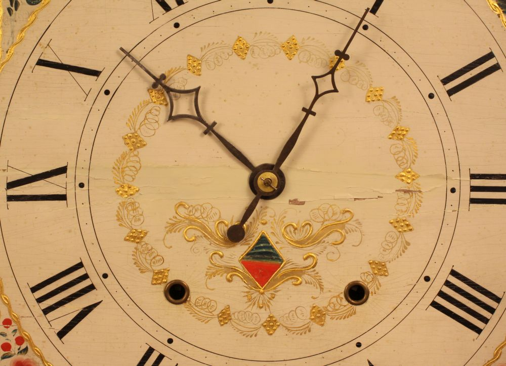 Seth Thomas Stenciled Transition Shelf Clock