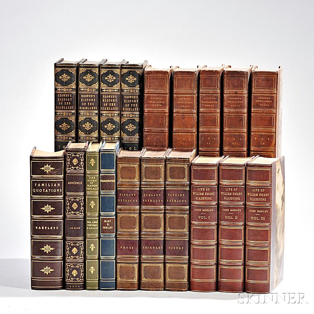 Decorative Bindings, Sets, Large Octavo and Quarto-Format, Nineteen Volumes.
