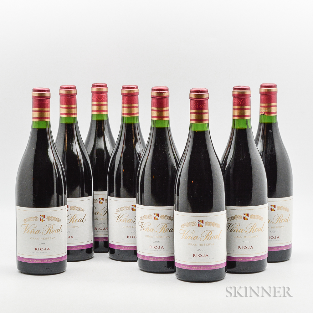 CVNE Vina Real Gran Reserva 2001, 8 bottles