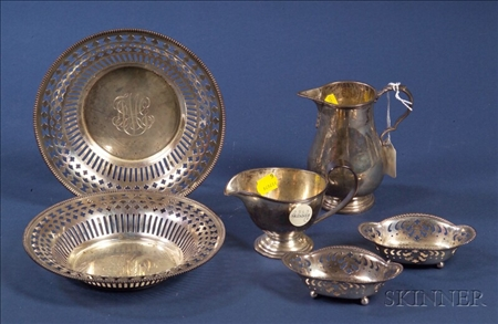 Six Small American Sterling Tablewares