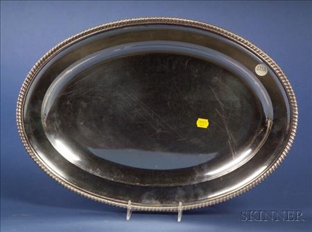 George V Silver Platter