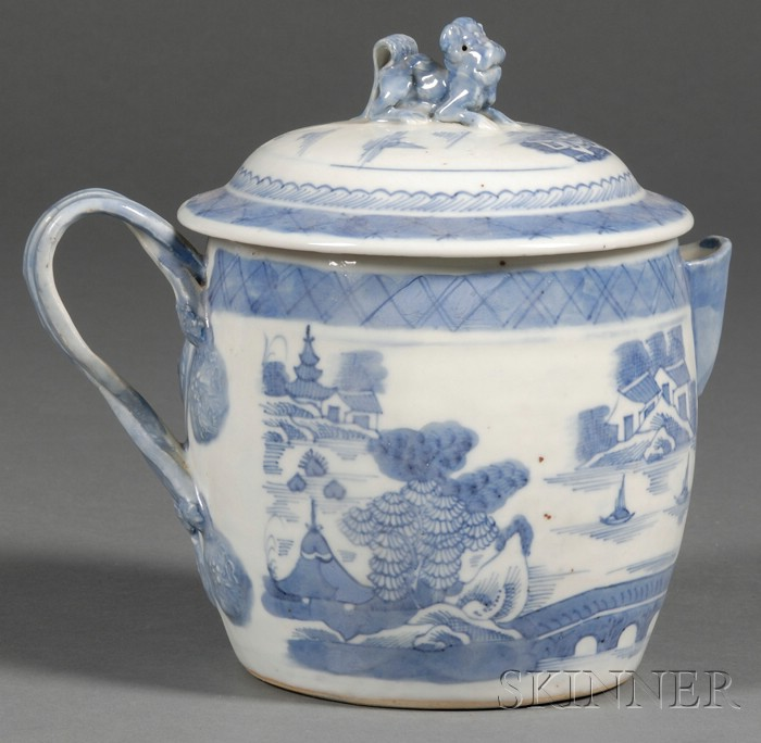 Canton Porcelain Covered Cider Jug