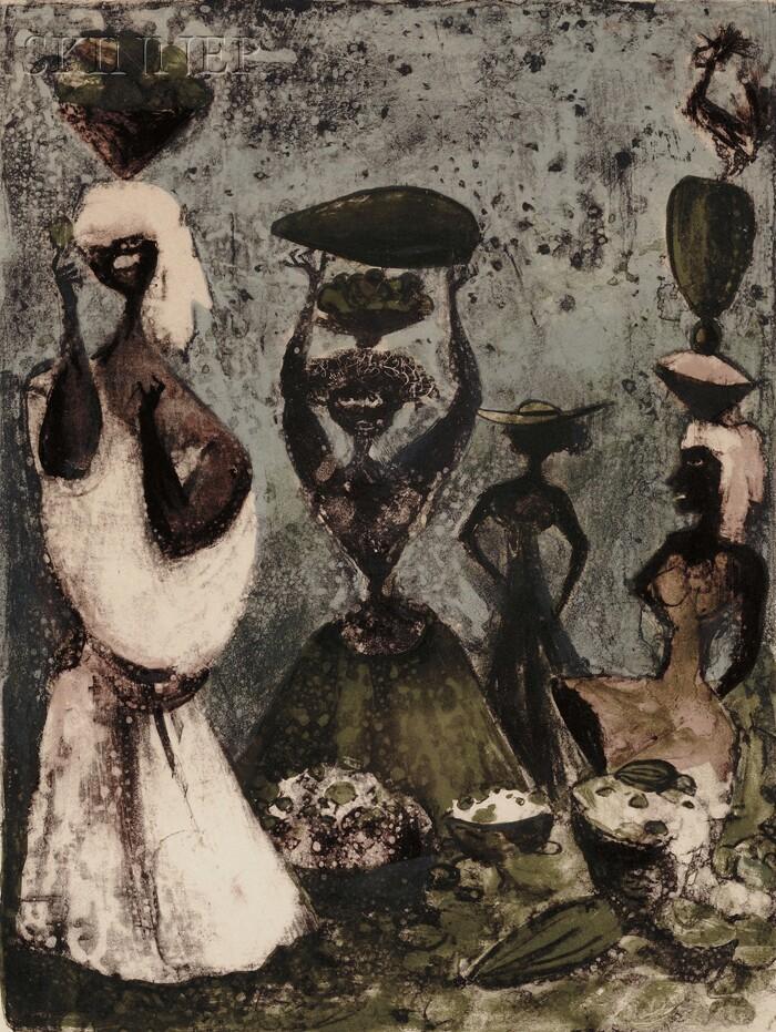 Adolf Arthur Dehn (American, 1895-1968)      Four Caribs