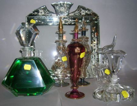 Six Assorted Scent and Perfume Bottles