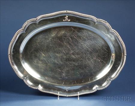 Large William IV Silver Platter