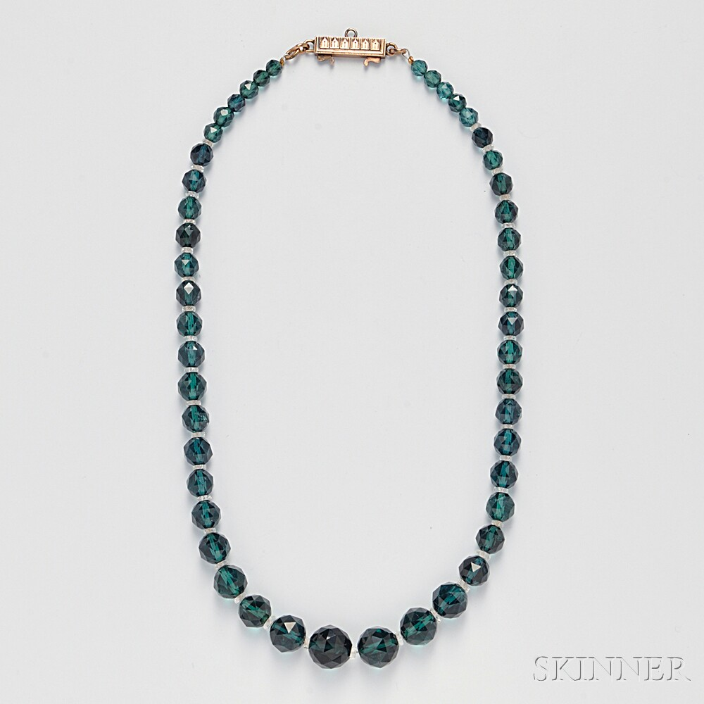 Green Tourmaline Bead Necklace