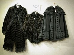 Four Victorian Black Cut Velvet and Brocade Shoulder Capes.