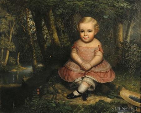 American School, Mid-19th Century    Portrait of a Child.