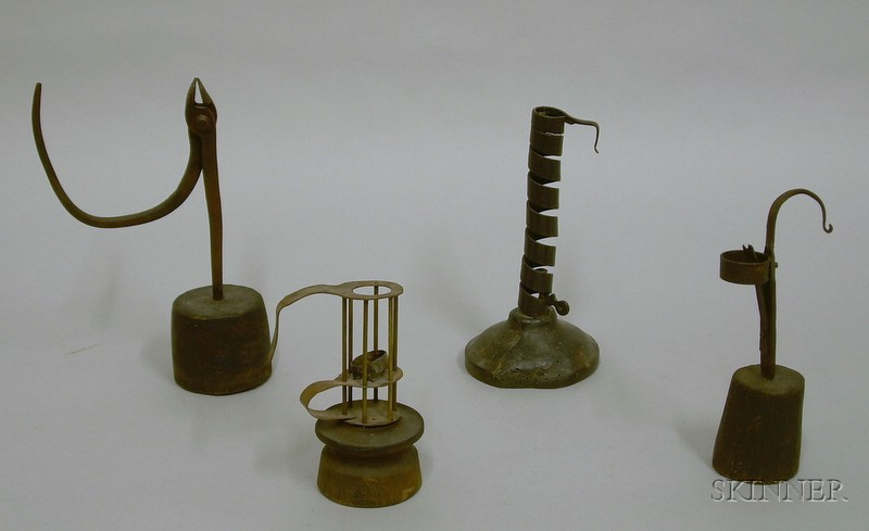 Early Metal and Wooden Lighting Devices