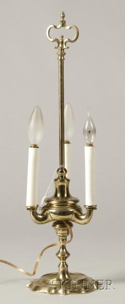 Brass Bouillotte Oil Lamp Base