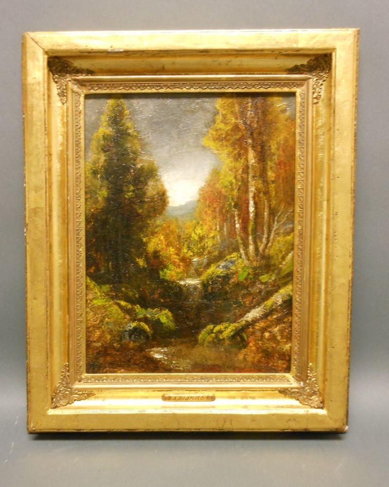 Ralph Albert Blakelock (American, 1847-1919)      The Trout Stream