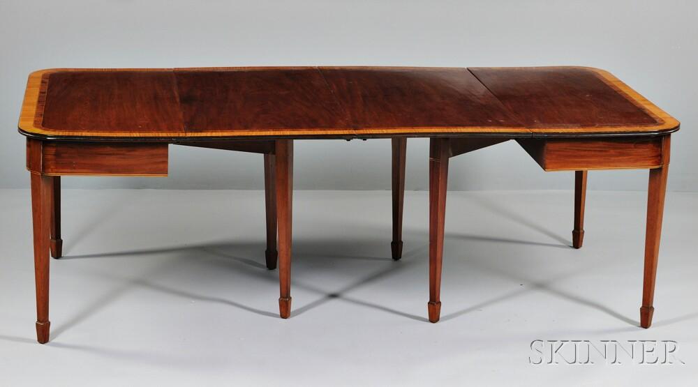 Regency-style Inlaid Mahogany Dining Table