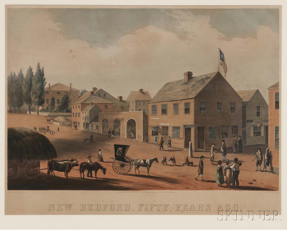 Endicott and Co., Lithographers (American, 1852-1886)    New Bedford, Fifty Years Ago