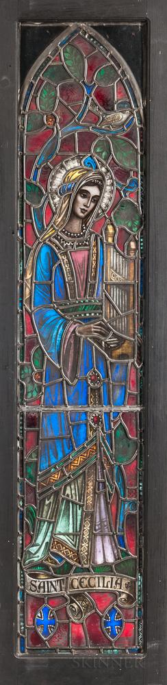 Burnham Studios Saint Cecelia Stained Glass Window