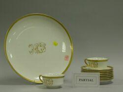 Seventeen Pieces of Haviland Gold Band China.