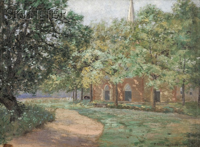 Charles Albert Burlingame (American, 1860-1930)      Old Stone Church, Saddle River