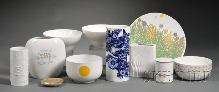 Eleven Rosenthal Porcelain Studio Line Items