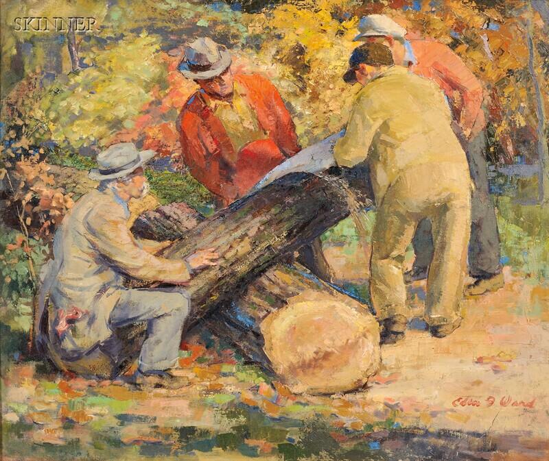 Edmund Franklin Ward (American, 1892-1991)      Log Cutters