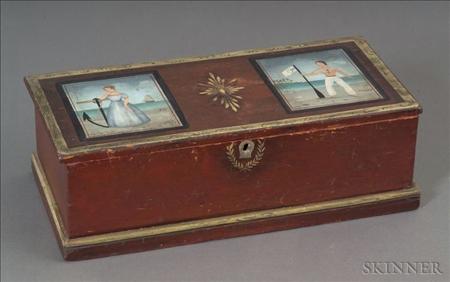 Paint Decorated Pine Box