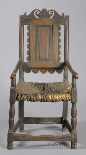 Polychrome Turned Armchair