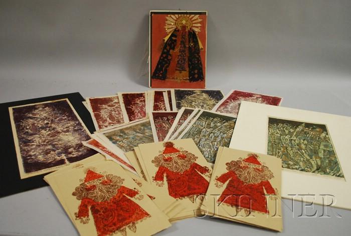 Blair Lent (American, 1930-2009)      Lot of Christmas Subjects: Santa Claus, Season's Greetings