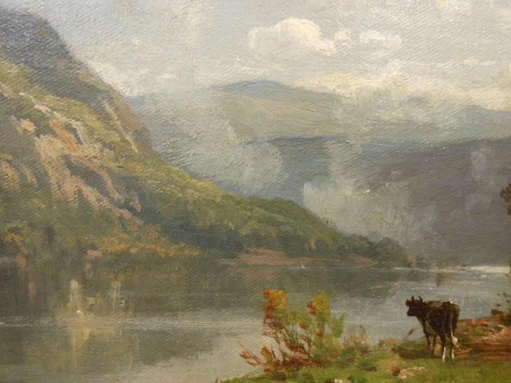 Thomas Bigelow Craig (American, 1849-1924)      River Landscape with Cattle