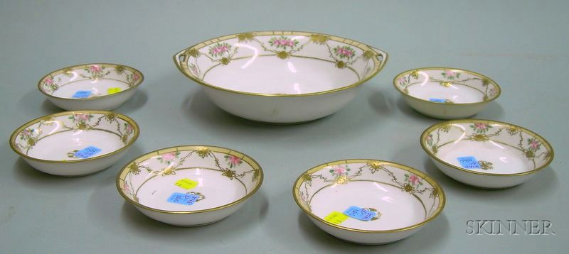Hand-painted Nippon Porcelain Dessert Set