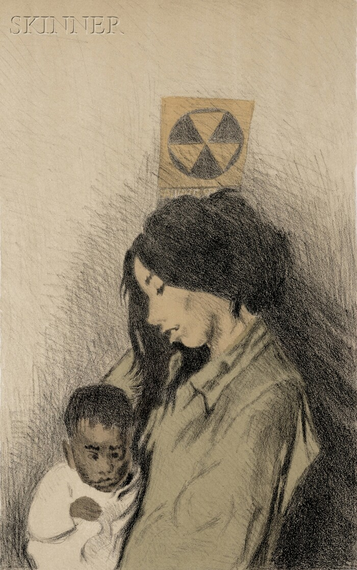 Raphael Soyer (American, 1899-1987)      Mother and Child