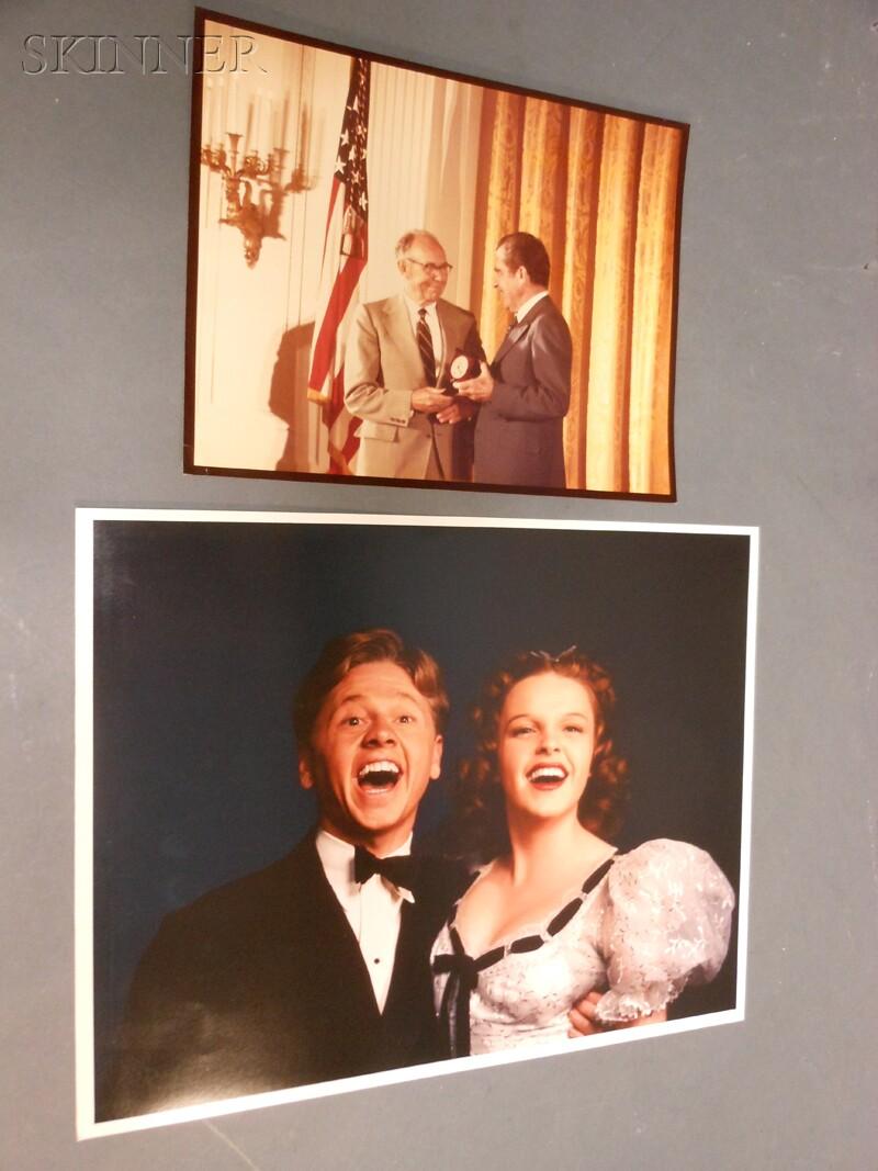 Harold Eugene Edgerton (American, 1903-1990)      Judy Garland and Mickey Rooney at MGM Studios