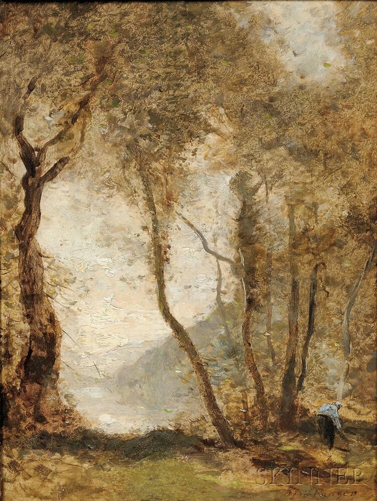 Henry Ward Ranger (American, 1858-1916)      Hommage à Corot