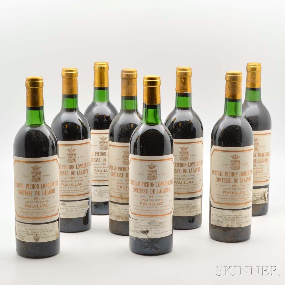 Chateau Pichon Lalande 1981, 8 bottles