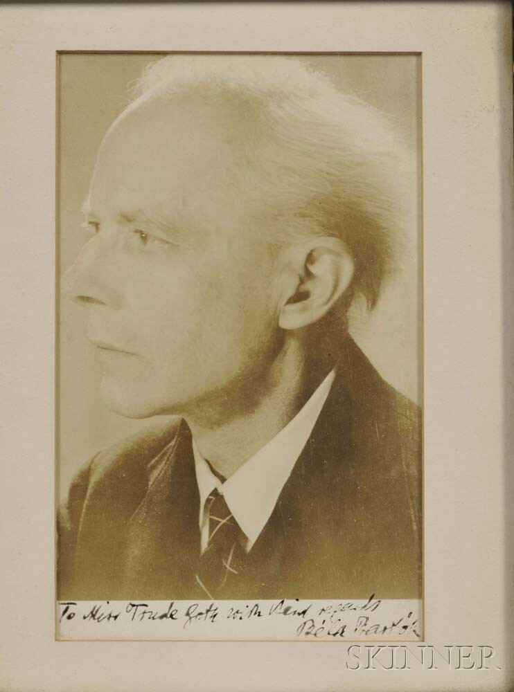 Bartok, Bela (1881-1945) Signed Photograph.