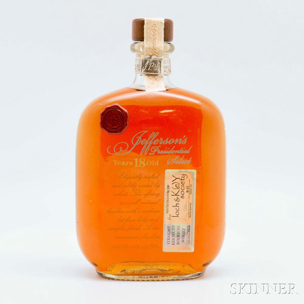 Jeffersons Presidential Select 18 Years Old, 1 750ml bottle