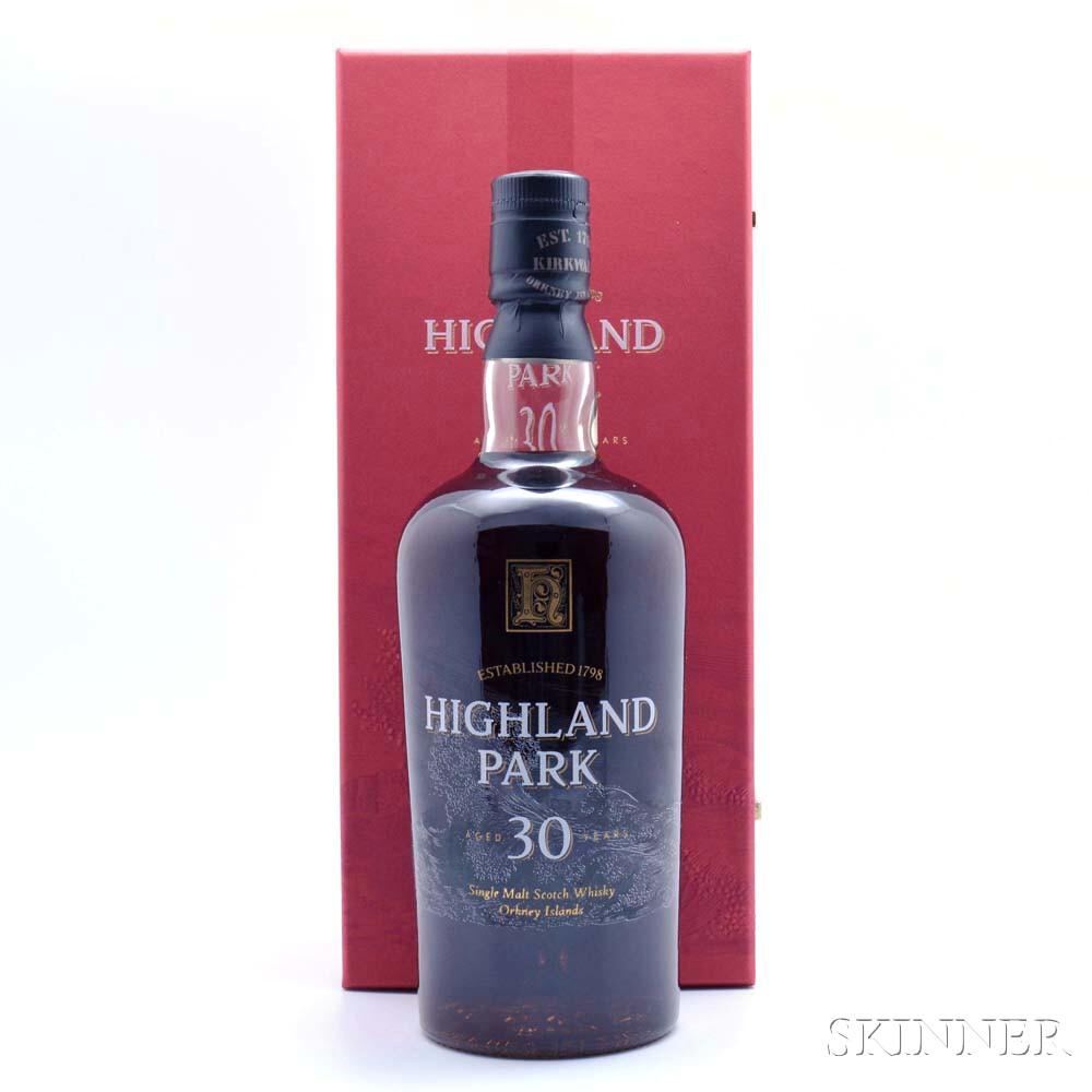 Highland Park 30 Years Old, 1 750ml bottle (pc)