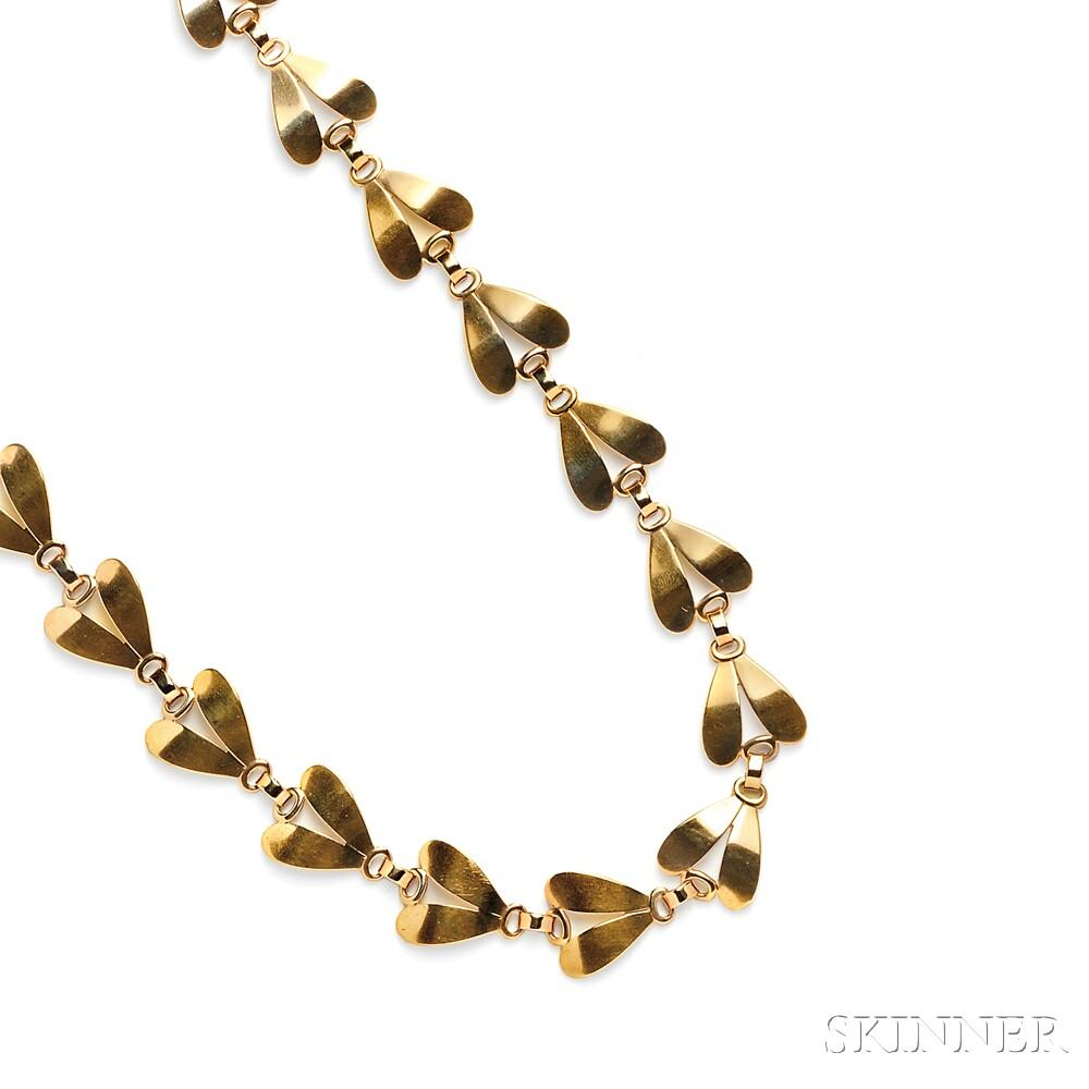 Retro 14kt Gold Necklace, Tiffany & Co.