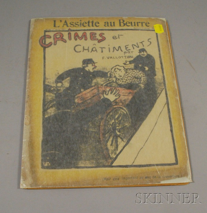 Félix Vallotton (Swiss, 1865-1925) Lot of Twenty-three Plates from Crimes et Chatiments [A Special Magazine Issue of LAssiette au B...