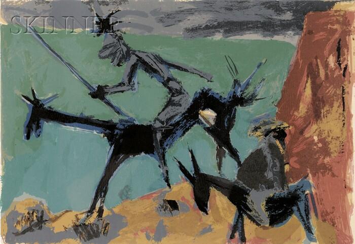 Marcel Janco (Israeli, 1895-1984)      Don Quichotte