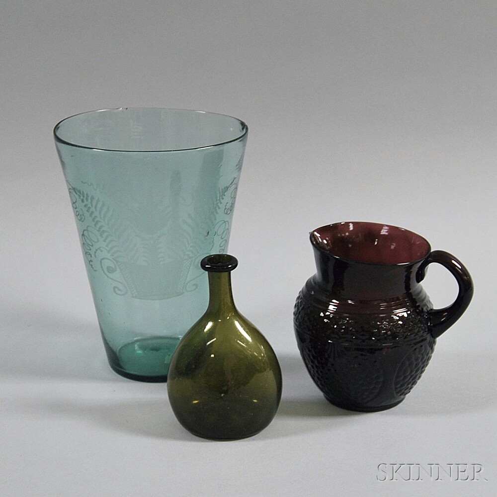 Three Early Glass Vessels