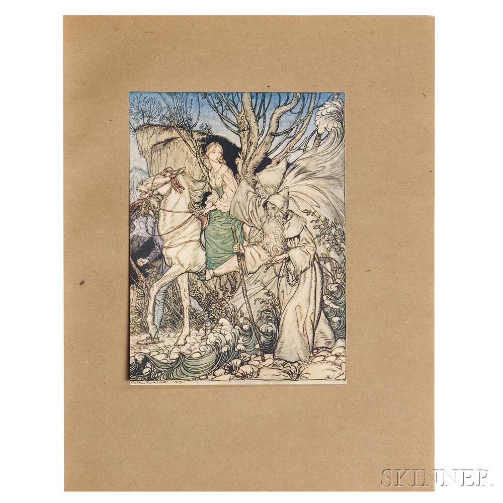 Fouque, Friedrich de la Motte (1777-1843) Undine  , Illustrated and Signed by Arthur Rackham (1867-1939)