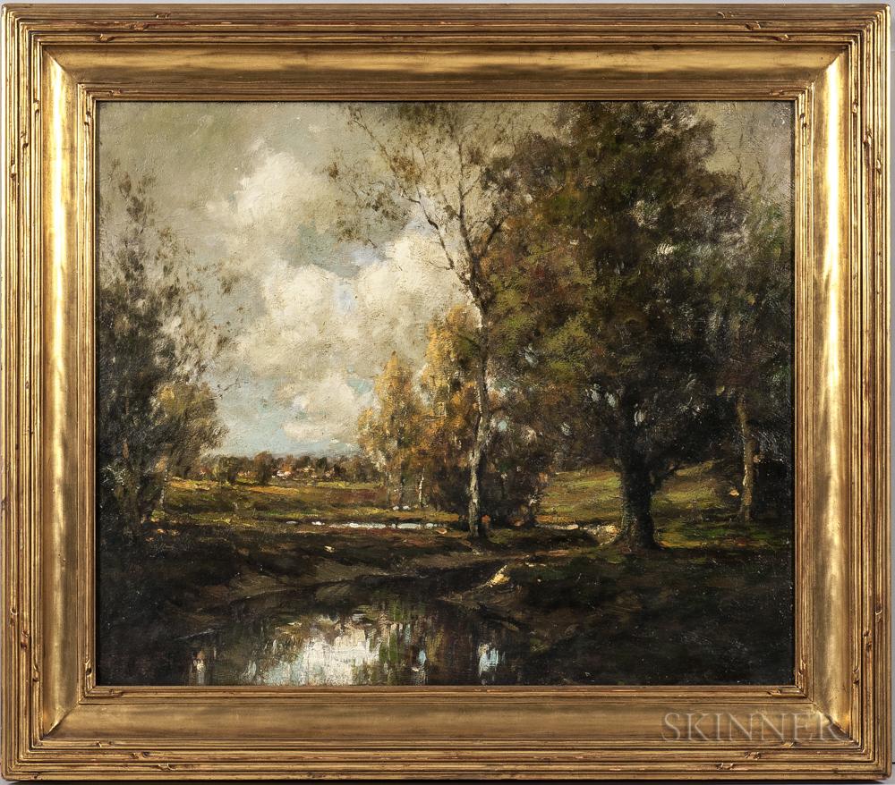 Dean Bradford (Canadian, 20th Century)      Landscape with Stream