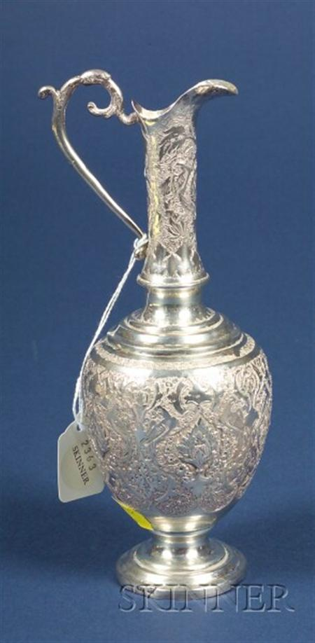 Small Middle Eastern Silver Ewer