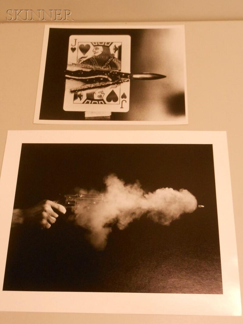 Harold Eugene Edgerton (American, 1903-1990)      Two Images: Antique Gun Firing