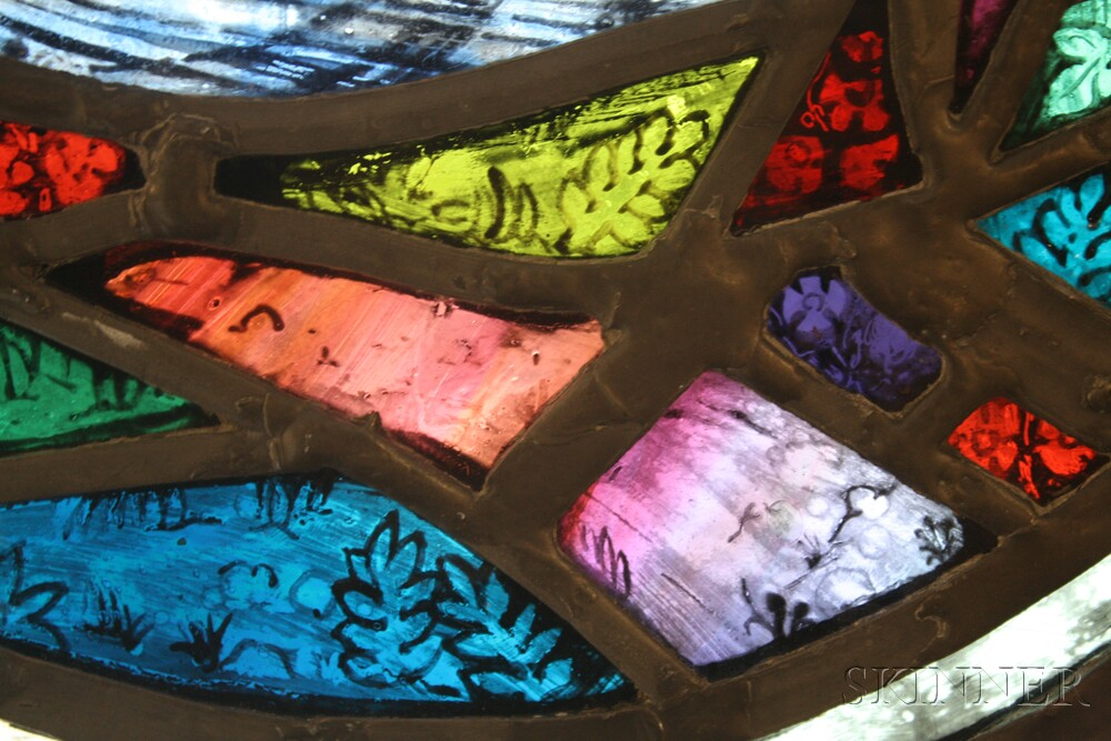 Henryk Francis Twardzik (Polish/American, 1900-1992) Stained Glass Rondel