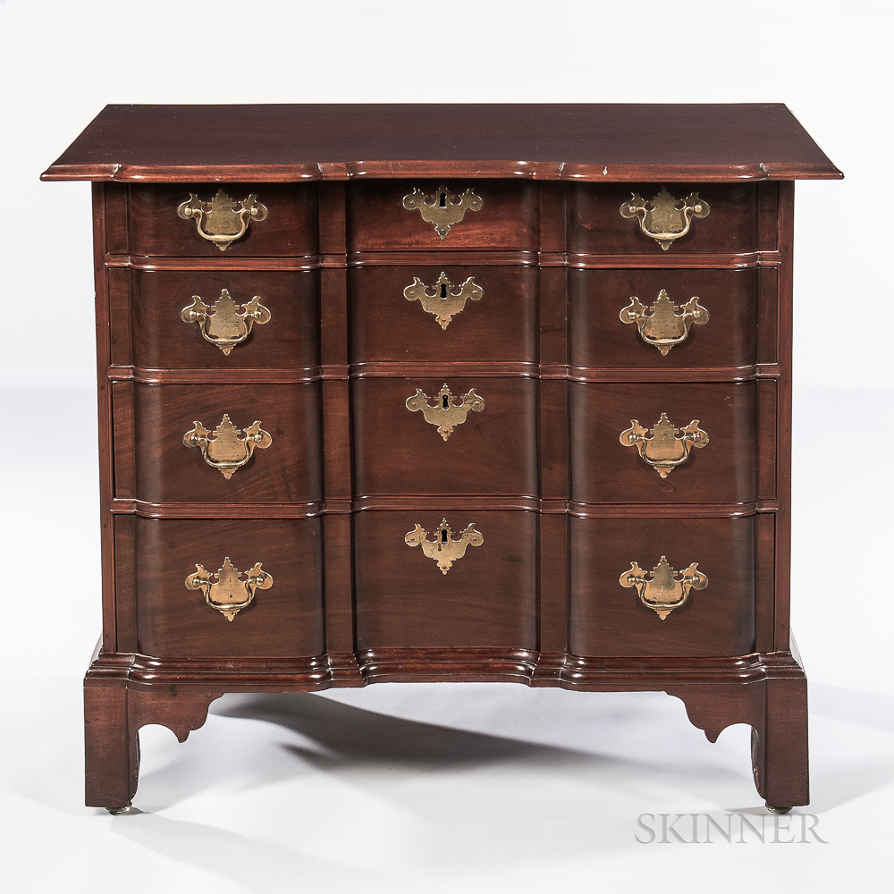 Chippendale Carved Mahogany Block-front Chest of Drawers