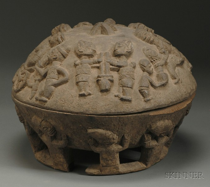 African Carved Wood Bowl