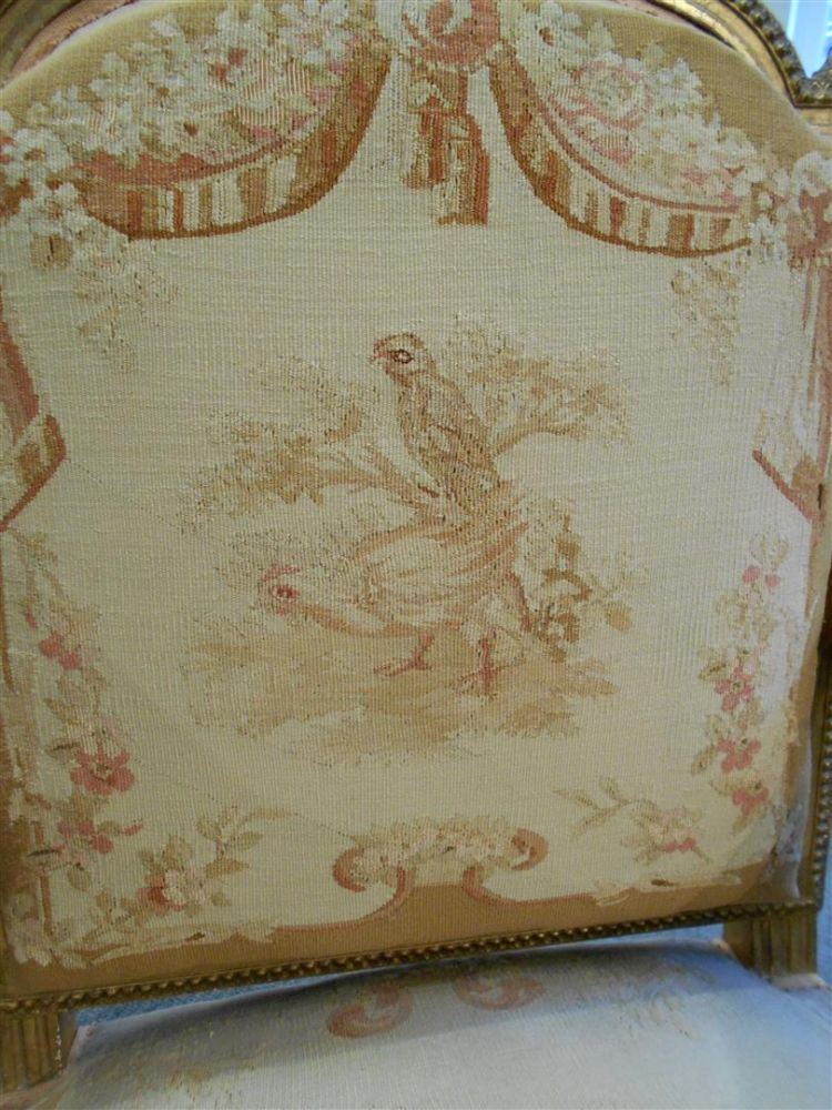 Six Louis XVI-style Giltwood Dining Chairs