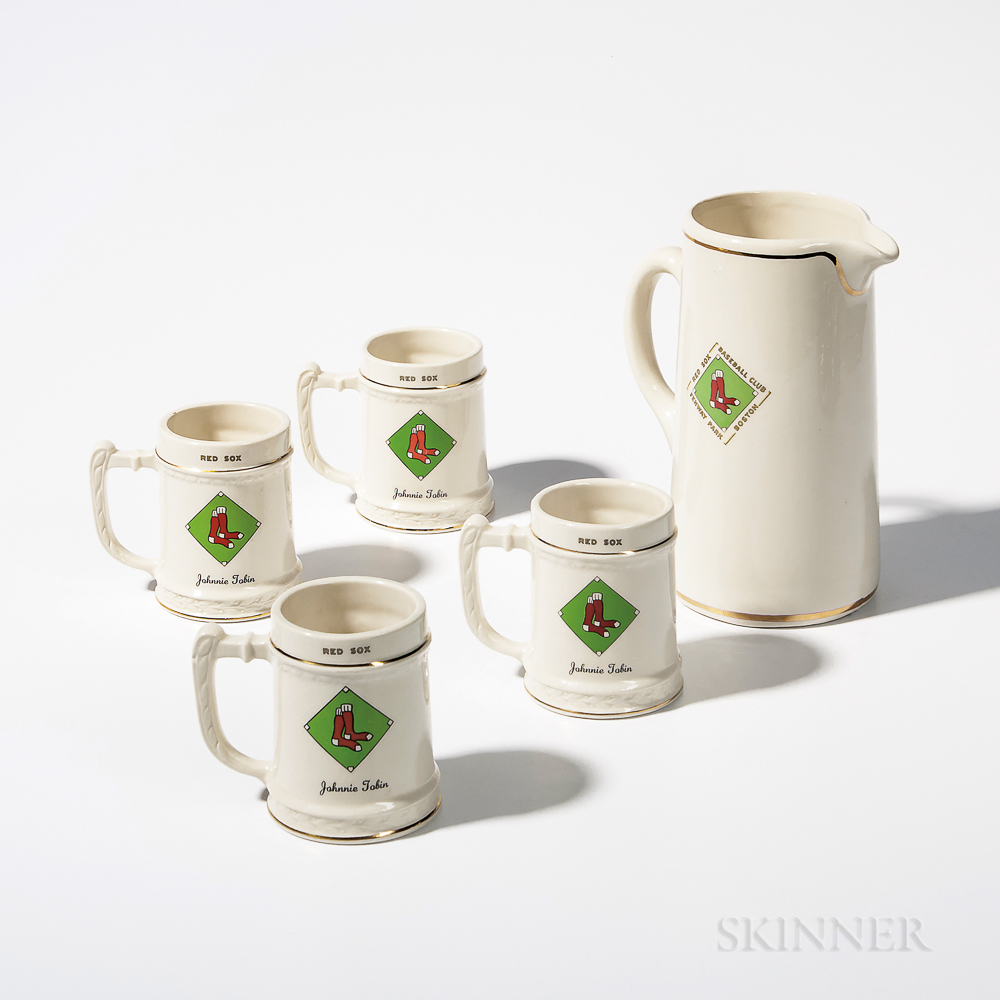 Red Sox Pitcher and Four Steins