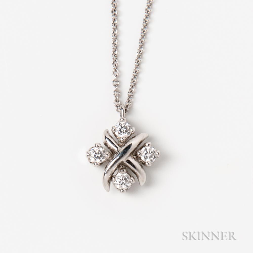 Tiffany & Co. Platinum and Diamond Pendant